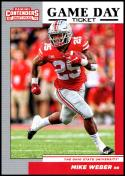 2019 Panini Contenders Draft Game Day Tickets #39 Mike Weber NM-MT Ohio State Buckeyes