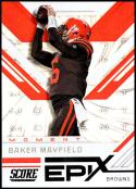 2019 Score Epix Moment #10 Baker Mayfield NM-MT+ Cleveland Browns