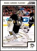 2012-13 Panini Score #374 Marc-Andre Fleury NM-MT Pittsburgh Penguins  Officially Licensed NHL Hockey Trading Card