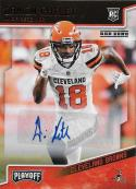 2018 Panini Playoff Rookies Autographs Red Zone #273 Damion Ratley Auto NM-MT+ Cleveland Browns