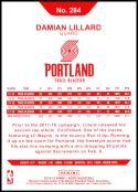 2018-19 Panini Hoops Red Backs #284 Damian Lillard NM-MT Portland Trail Blazers