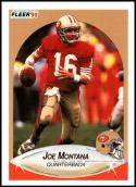 1990 Fleer #10 Joe Montana Correct NM-MT San Francisco 49ers