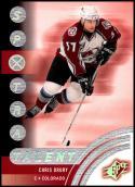2001-02 SPx #82 Chris Drury NM-MT Colorado Avalanche