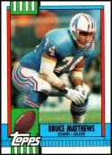 1990 Topps #215 Bruce Matthews NM-MT Houston Oilers