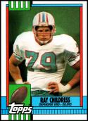 1990 Topps #218 Ray Childress NM-MT Houston Oilers
