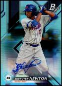 2019 Bowman Platinum Top Prospects Autographs #TOP-2 Shervyen Newton NM-MT New York Mets