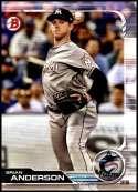 2019 Bowman #91 Brian Anderson NM-MT Miami Marlins  Officially Licensed MLB Baseball Trading Card