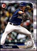 2019 Bowman #97 Josh Hader NM-MT Milwaukee Brewers  Officially Licensed MLB Baseball Trading Card