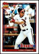 1991 Topps #210 Lance Parrish NM-MT California Angels  Officially Licensed MLB Baseball Trading Card
