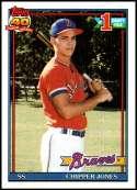 1991 Topps #333 Chipper Jones RC NM-MT Atlanta Braves  Officially Licensed MLB Baseball Trading Card