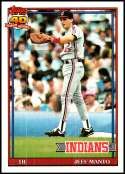 1991 Topps #488 Jeff Manto NM-MT Cleveland Indians  Officially Licensed MLB Baseball Trading Card