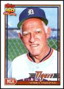 1991 Topps #519 Sparky Anderson NM-MT Detroit Tigers  Officially Licensed MLB Baseball Trading Card