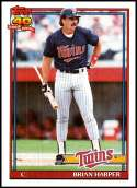 1991 Topps #554 Brian Harper NM-MT Minnesota Twins  Officially Licensed MLB Baseball Trading Card