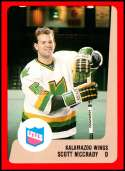 1988-89 ProCards IHL Kalamazoo Wings #NNO Scott McCrady NM-MT Kalamazoo Wings  IHL Hockey Trading Card