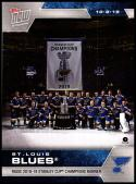 2019-20 Topps Now Stickers #1 St. Louis Blues Champions Banner NM-MT
