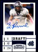2017 Panini Contenders Draft Picks College Draft Ticket Blue Foil #291 Zach Pascal NM-MT