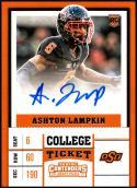 2017 Panini Contenders Draft Picks College Ticket Autographs #274 Ashton Lampkin NM-MT