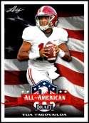 2020 Leaf Draft #62 Tua Tagovailoa NM-MT Alabama Crimson Tide