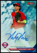 2016 Bowman's Best Best of 2016 Autographs Refractors #B16-MM Mickey Moniak RC NM-MT Philadelphia Phillies