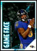 2020 Score Game Face #GM-LJ Lamar Jackson NM-MT Baltimore Ravens
