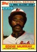 1984 Topps Cereal #1 Eddie Murray NM-MT Baltimore Orioles