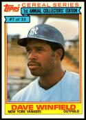 1984 Topps Cereal #7 Dave Winfield NM-MT New York Yankees